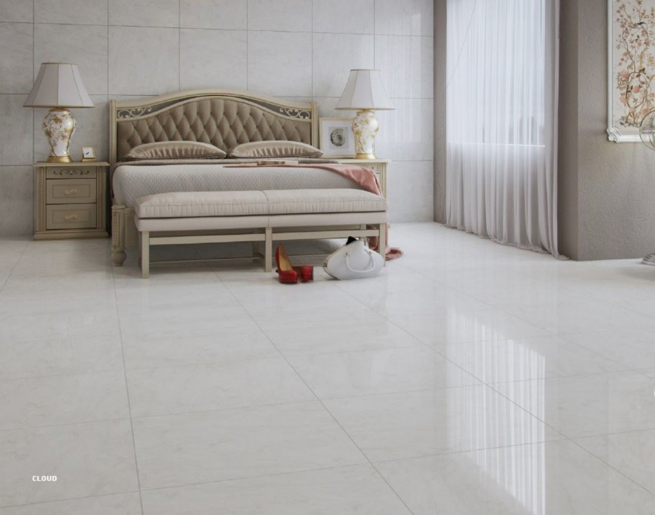 Porcelanato Cloud 62x62 - Cx 2,33