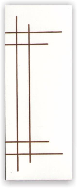 Porta Frisada CB04 - 2,10x0,80x3,00cm