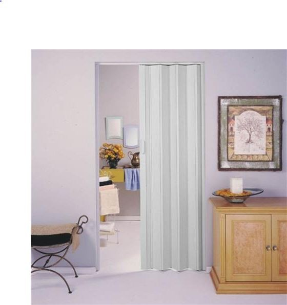 Porta Sanfonada Com Trinca 60cm - Cinza