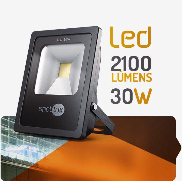 Refletor De Led 30w (6.000k) - Luz Branca