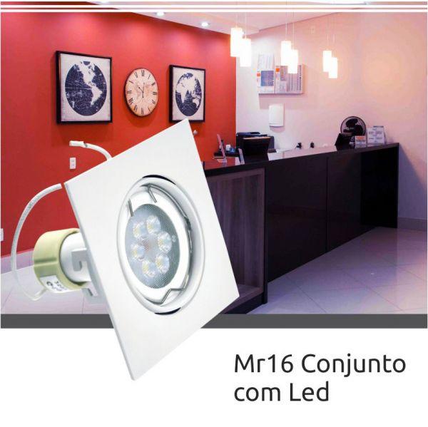 Spot Mr16 Led 5w Quadrada - Branco Frio INATIVO