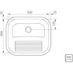 Tanque Inox Ref: A304 50x40cm