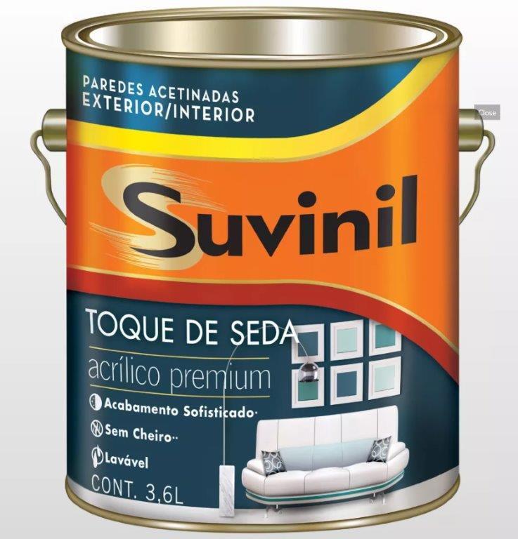 Tinta Acrílica Acetinado Toque De Seda Premium 3,6l