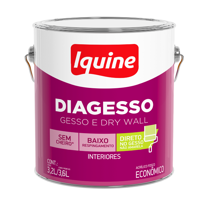 Tinta Acrílica Diagesso 3,6L - Branco Neve