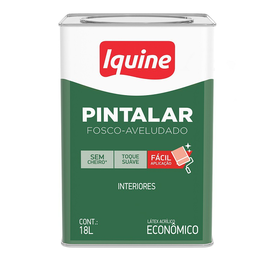 Tinta Acrílica Látex Pintalar 18L  - Branco Neve