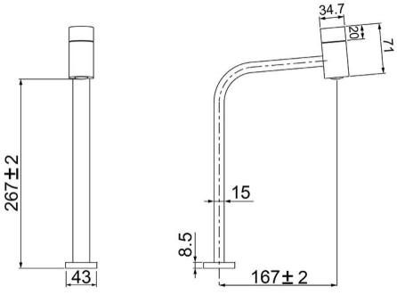 Torneira Alta Lavatório Code Chrome 1195 C55