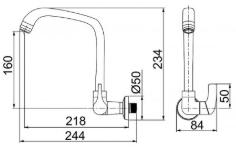 Torneira Cozinha Fitt F61 1168