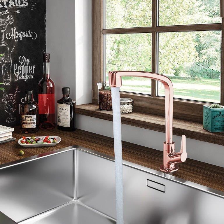 Torneira Cozinha/Mesa Em Plastico Ref: 1167 F71 - Rose Gold