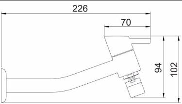 Torneira Cozinha/Parede Ref: 1162 C42