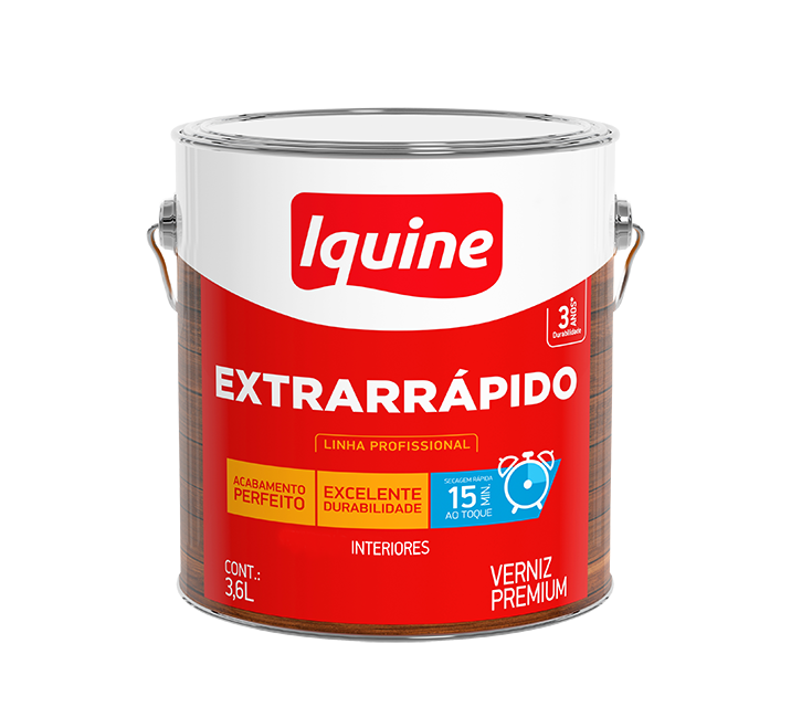 Verniz Extrarrápido 3,6L - Incolor