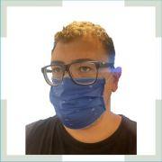 Máscara em tecido - pregas - Adulto - masculino