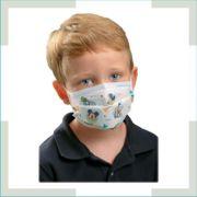 Máscara em tecido - pregas - Infantil - unissex