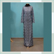 Vestido de festa azul com brilho