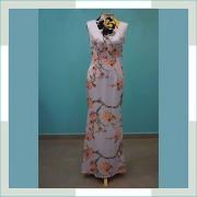 Vestido de festa floral azul