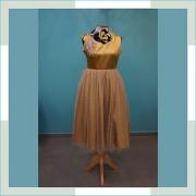 Vestido de festa infantil dourado