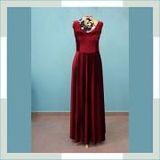 Vestido de festa marsala I