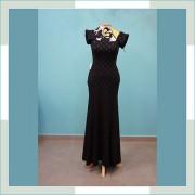 Vestido de festa preto com  bolas II