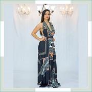 Vestido de festa geométrico