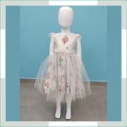 Vestido de festa Infantil floral saia tule