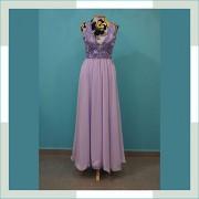 Vestido de festa lilás bojo brilho I