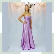 Vestido de festa lilás bojo brilho II