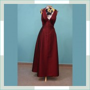 Vestido de festa marsala III