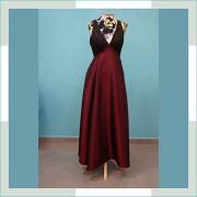 Vestido de festa marsala IV