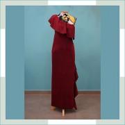 Vestido de festa marsala V