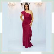 Vestido de festa marsala VI
