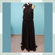 Vestido de festa preto com dourado