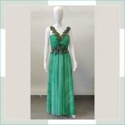 Vestido de festa verde medusa