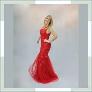 Vestido de festa vermelho cauda II