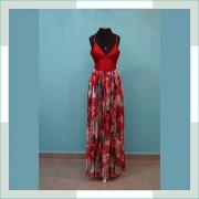 Vestido de festa vermelho devorê