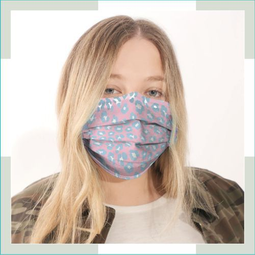 Máscara em tecido - pregas - Adulto - feminino  - FERRONI STORE ROUPAS E ACESSÓRIOS