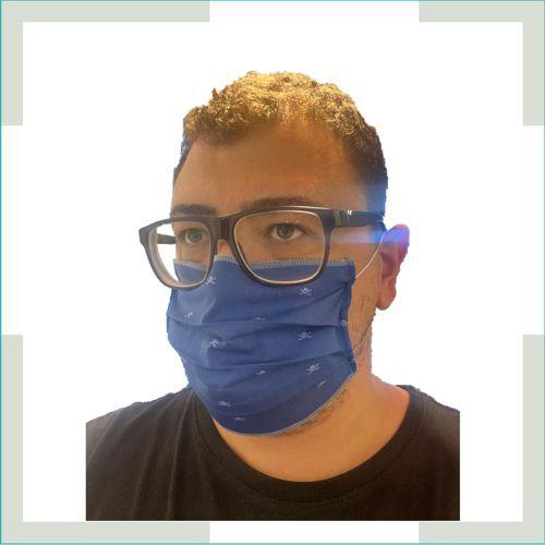 Máscara em tecido - pregas - Adulto - masculino  - FERRONI STORE ROUPAS E ACESSÓRIOS