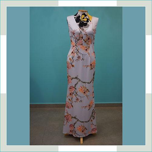 Vestido de festa floral azul  - FERRONI STORE ROUPAS E ACESSÓRIOS