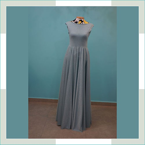 Vestido de festa azul lurex  - FERRONI STORE ROUPAS E ACESSÓRIOS