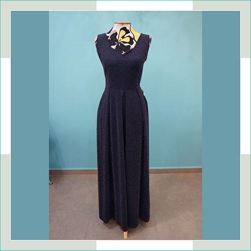 Vestido de festa azul marinho  - FERRONI STORE ROUPAS E ACESSÓRIOS