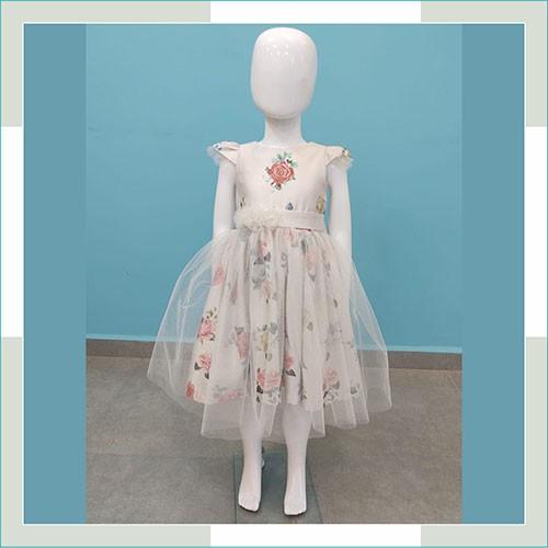 Vestido de festa Infantil floral saia tule  - FERRONI STORE ROUPAS E ACESSÓRIOS