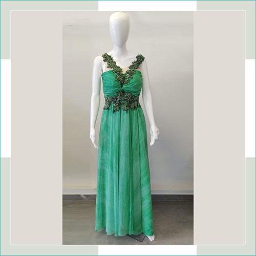 Vestido de festa verde medusa  - FERRONI STORE ROUPAS E ACESSÓRIOS