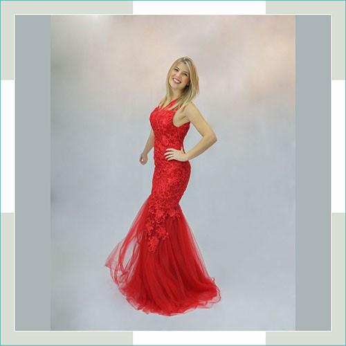 Vestido de festa vermelho cauda II  - FERRONI STORE ROUPAS E ACESSÓRIOS