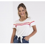 56444 - T-Shirt Plano Estampada - Império Z