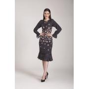 89616- Vestido crepe estampado - Laura Rosa