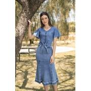 89637- Saia sino jeans - Laura Rosa 75cm