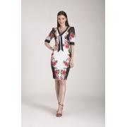 89643- Vestido crepe estampado - Laura Rosa