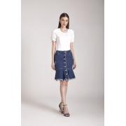 89679- Saia sino jeans - Laura Rosa
