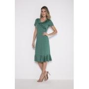 89769- Vestido Laise Verde - Laura Rosa - 110cm