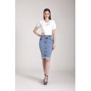 89662- Saia tradicional jeans - Laura Rosa