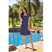 Vestido Jeans Laura Rosa 89573