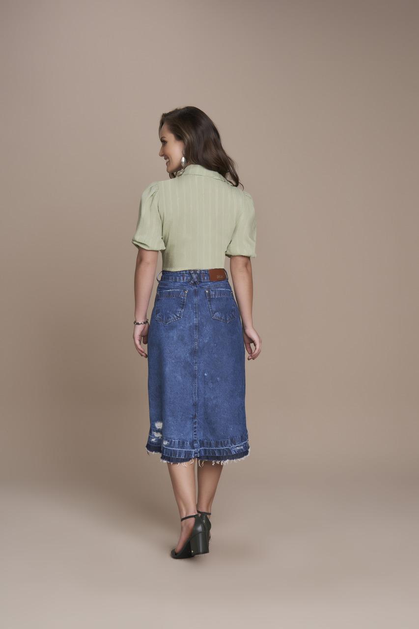 25336- Saia Evase Jeans